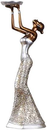 燭台ローソク足キャンドルホルダー ヨーロッパのロマンチックな樹脂の燭台の装飾の居間のTVのキャビネットの家の燭台の装飾の結婚祝い 燭台ローソク足キャンドルホルダー (Color : A)