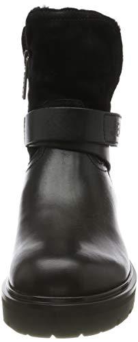 Tommy Hilfiger Damen Reflective Detail Biker Boot Stiefeletten, Schwarz (Black 990), 38 EU 2