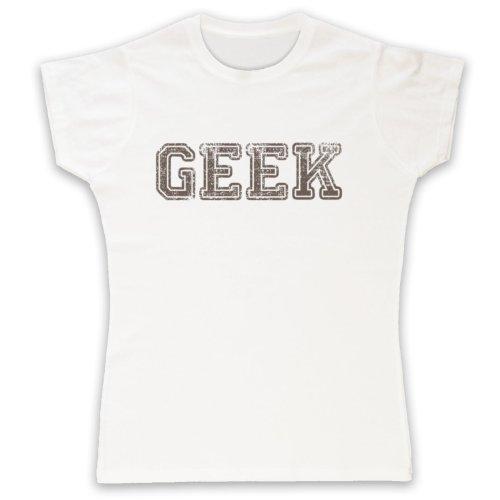 Geek Funny Slogan Camiseta para Mujer blanco