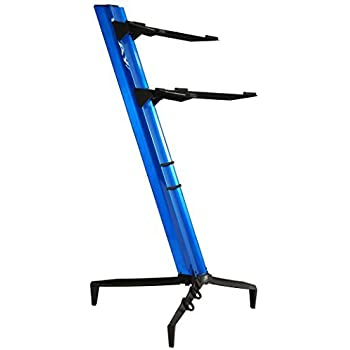 tower series 46 double tier keyboard stand blue tower 1300 02 bl musical instruments. Black Bedroom Furniture Sets. Home Design Ideas
