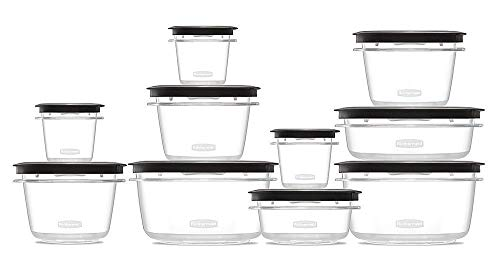 (Rubbermaid Rubbermaid Premier Food Storage Containers, 20-Piece Set, Gray,)