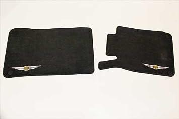 Black Nylon Carpet Coverking Custom Fit Front Floor Mats for Select Chrysler Crossfire Models