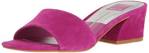 Dolce Vita Women's Rilee Slide Sandal, Magenta Suede, 6.5 Medium US by Dolce Vita