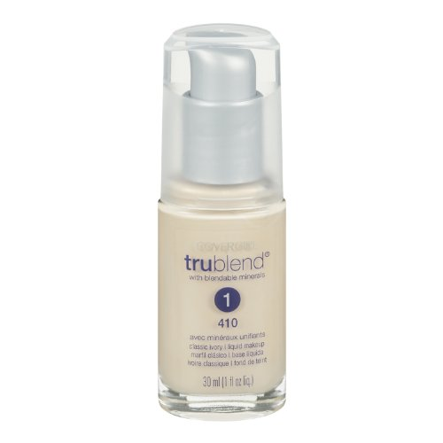 (CoverGirl Trublend Liquid Make Up Classic Ivory 410, 1.0-Ounce Bottle)