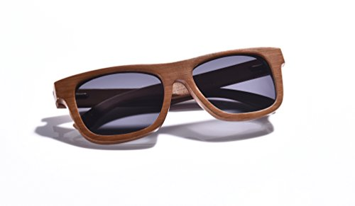 WOODWORD Bamboo Wood Sunglasses in Wayfarer Style with Polarized UV Protection Lenses for Men and Women-Hello From The Nature (Dark Grain, - Uv Lose Sunglasses Can Protection