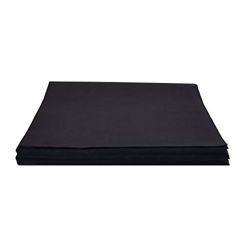 Crown 480 Sheets Bulk Pack Black Tissue Paper Gift Wrap - Ream of Paper - 20 inch. x 30 inch. Wrapping Tissue Paper - for Scrapbooking Paper, Art n Crafts, Wrapping Christmas Gifts and More!!