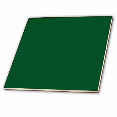 3dRose ct_30643_1 Forest Green Ceramic Tile, 4