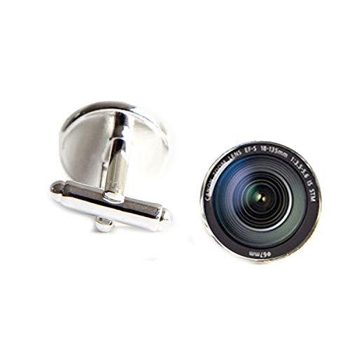 (JIA-WALK Fashion Lenses Cufflinks Camera Lens Cuff Link Cufflinks for Mens Cuff Button,Copper)