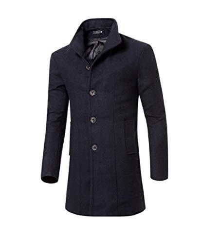 Mens Fleece blue Long Fall Collar Turn XINHEO Navy Eco Winter Down Mid Overcoat FSx7qw
