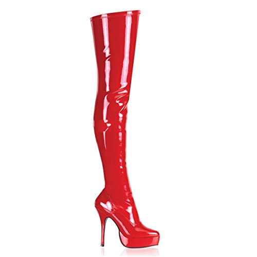Indulge Pleaser Women's 3000 Red Boot pqF7gqw