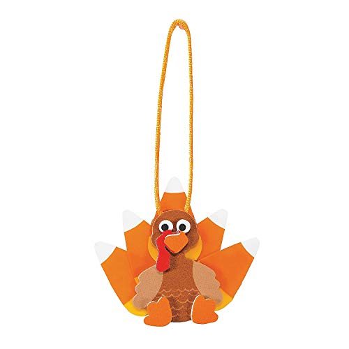 Set of 12 Candy Corn Turkey Ornament Foam