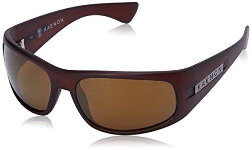 Kaenon Men's Lewi Polarized Rectangular Sunglasses, Gold Coast, 64 - Kaenon Sunglasses