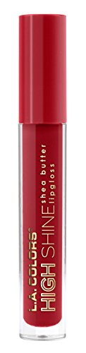 L.A. Colors High Shine Shea Butter Lip Gloss, Dynamite, 0.14 Ounce