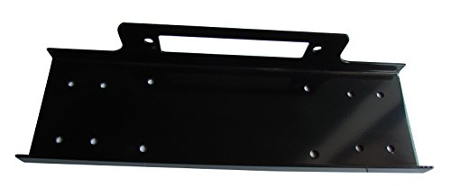 RUGCEL Universal Recovery Winch Mounting Plate Mount Bracket for Truck Trailer SUV Jeep Black