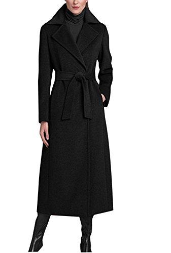 Wool Blend Long Coat - 7