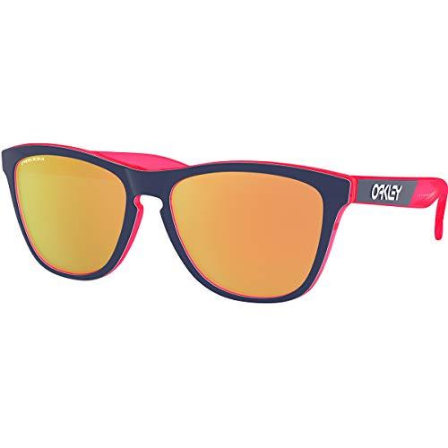 Oakley Men's Frogskins Crystalline Asian Fit Sunglasses,OS,Translucent Neon Pink/Prizm Rose ()