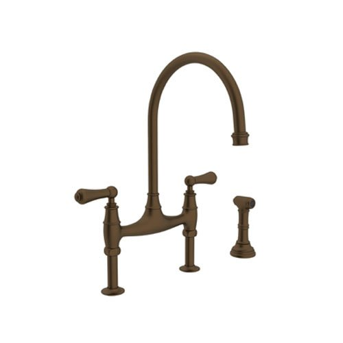 Rohl U 4719l Stn 2 Perrin And Rowe Deck Mount Bridge Kitchen Faucet