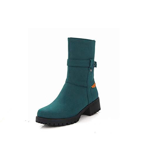 Invernali 43 Stivali Con Per Wsr Donna stivali stivali Cerniera D'autunno Di Cotone scarpe Scollato Blu 36 Caldi E Martin BqYTdw