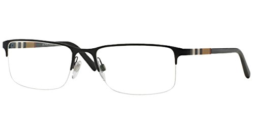 Burberry Men's BE1282 Eyeglasses Black ()