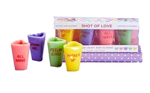 Valentines Shot of Love Edible Shot Glasses Cotton Candy Flavored Set of 4 for $<!--$26.46-->