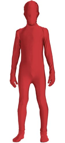 Forum Novelties I'm Invisible Bodysuit, Red, Child's Large (Red Halloween Mask)
