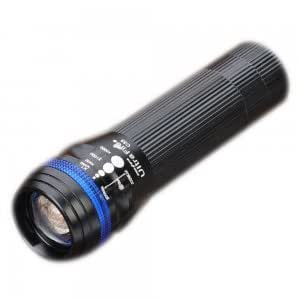 Zooming 350LM 1 LED 3 Mode Waterproof White Light Flashlight for Bicycle (1 x 18650 / 3 x AAA)