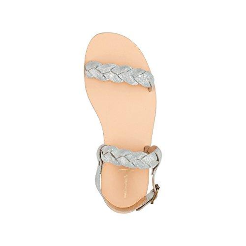 R Sandali Mademoiselle Argent Cinturini Pelle Con Intrecciati In Donna 4xwrqwdE6f