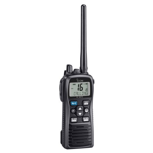 Icom M73 PLUS Handheld VHF - 6 Watts, IPX8 Submersible, Active Noise Canceling, Built-In Voice Recorder by Icom