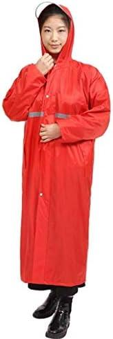 Raincoat Poncho Mens Frauen, Wasserdichten Outdoor-Regen Jacke, Starke Lange Abschnitt Siamese Mode Regen Erwachsene Im Freien Regenreitsakko Lange Wandern Poncho (Color : Red, Size : XXL)