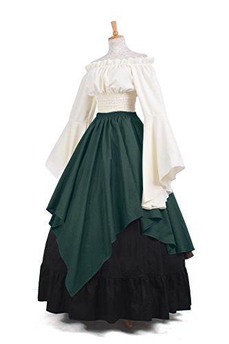 Kleid Nuoqi Kostüm Maxi Langarm Kleid Mittelalterliche Damen Gc229c ni Party Königin PxwFfU