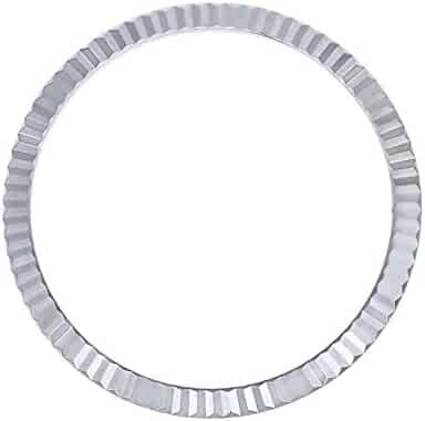 BEZEL FOR 36MM ROLEX DATEJUST 1602 1603 16013 16014 FLUTED 18K REAL WHITE GOLD
