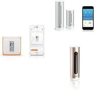 Kit Netatmo - Termostato + Cámara Wi-Fi con reconocimiento facial + Estación meteorológica: Amazon.es: Bricolaje y herramientas