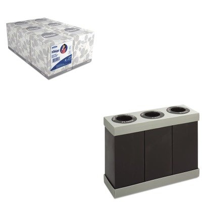 KITKIM21271SAF9798BL - Value Kit - Safco At-Your-Disposal Recycling Center (SAF9798BL) and KIMBERLY CLARK KLEENEX White Facial Tissue (KIM21271)