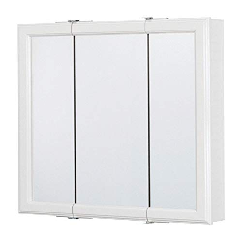 CONTINENTAL CABINETS CB12024-1 Tri View Med Cabinet White,