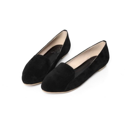 Hilfiger 3 Closed VogueZone009 UK Flats Pointed Womans Toe Frosted Black Tommy 1wHq7YHS