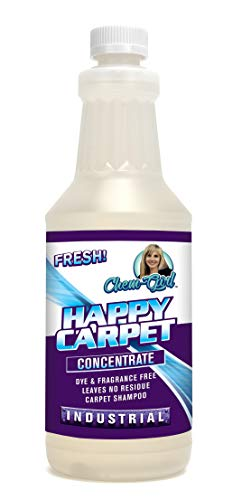 Chem-Girl | Happy Carpet Concentrate | Premium Carpet Shampoo | Removes Stains & Odors from Rugs, Mats & Upholstery | Deep Penetrating Pet Spot Cleaner | Bissell & Hoover Steam Compatible | 1 Quart from Chem-Girl