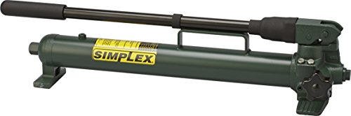 Simplex P42 Steel Compact Hand Pump for Single Acting Cylinder, 45 cu in Oil Reservoir Capacity, 10000 PSI, Green (Hand Pumps Simplex)