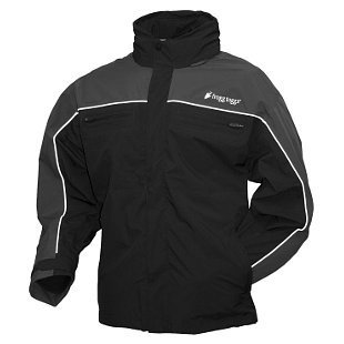 Frogg Toggs Men's Pilot Frogg Cruiser Rain Jacket (Black/Charcoal, XX-Large) by Frogg Toggs (Image #1)