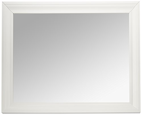 MCS 21.5x27.5 Inch Rectangular Wall Mirror, 26.5x32.5 Inch Overall Size, White - Small White Mirrors Bathroom Framed