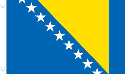 Allied Flag Outdoor Nylon Bosnia Herzegovina United Nation Flag, 5-Feet by 8-Feet