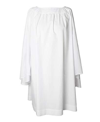 GradPlaza Round Neck Clergy Surplice White Clergy Robes