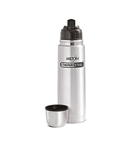 Milton Thermosteel Flip Lid Flask, 500 milliliters, Silver