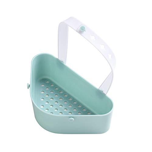 (AutumnFall Useful Sink Shelf Soap Sponge Drain Rack Bathroom Holder Kitchen Storage Tool Drain Basket (Blue))