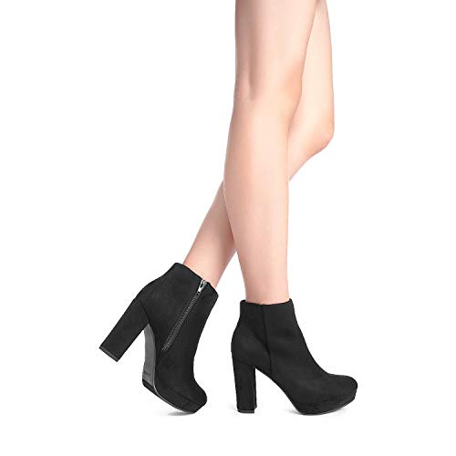 DREAM Women's Black High Ankle Bootie Size B US