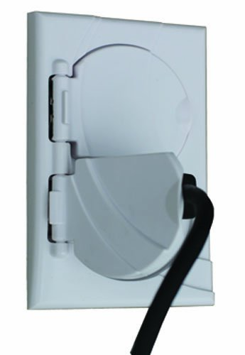 StayConnect IR300-DNHW DPLX No/Hook Outlet Cover, White by