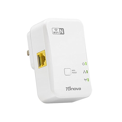 7INOVA N300 WiFi Range Extender/Repeater/Booster with Ethernet Port-Home Internet Wall Plug by 7INOVA