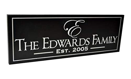 MRC Wood Products Personalized Family Name Sign 8x24 The Carlton