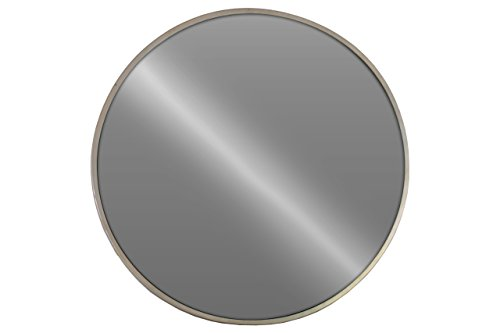 Urban Trends Metal Round Wall Mirror in Metallic Finish, Champagne (Urban Collection Mirror Living)