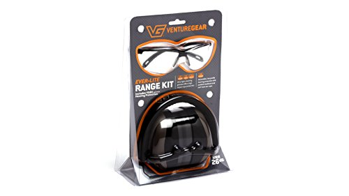 Shooters Kit (Venture Gear Shooting Glass and Hearing Protection Range Kit, Clear)