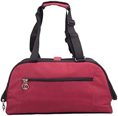 ペットキャリー 猫 犬、 旅行用にデザインされたペットクラブ用ソフトクレートバッグ、アウトドア用、キャットパピー小型ペット、レッド (Size : S)